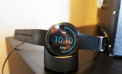 Motorola's Moto 360 smartwatch on show at the IFA electronics expo in Berlin