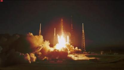 A Space X Falcon 9 rocket lifts off from Cape Canaveral on December 3, 2013