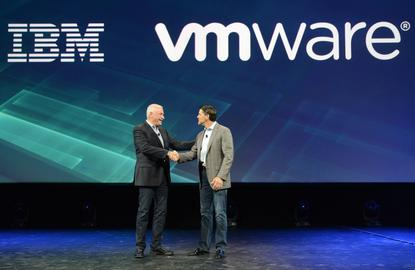 Robert LeBlanc - Senior vice president, IBM Cloud seals the deal with Carl Eschenbach - President and COO, VMware at IBM's InterConnect Conference in Las Vegas.