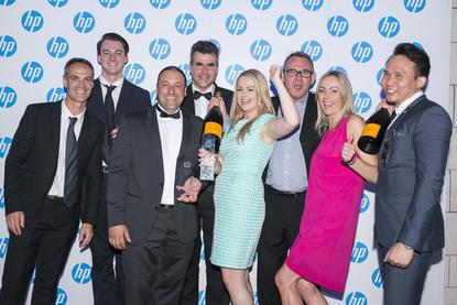 The Softsource team at the recent 2015 HP Partner Awards in New Zealand