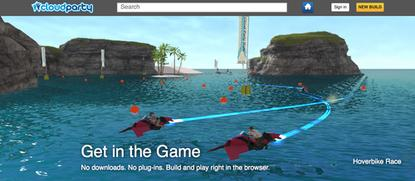 Cloud Party's software lets players build virtual worlds.
