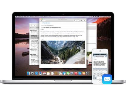 Start an email on your Mac, finish it on your phone (or vice versa), thanks to Handoff.
