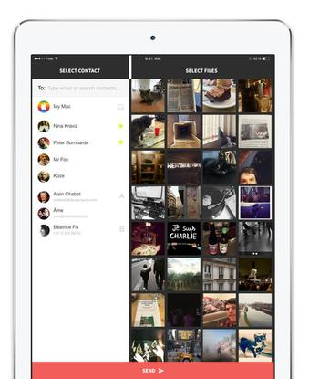 French company Infinit has customized its file-sharing app for Apple's iPads.