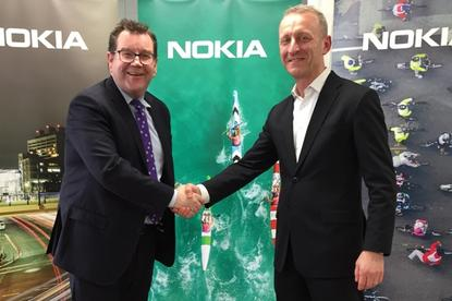 Minister of Finance Grant Robertson and Nokia head of Oceania Zoltan Losteiner open Nokia's new Wellington HQ