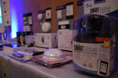 Home IoT products on display on Tuesday at Connections, a smart-home conference in Burlingame, California.