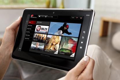 Toshiba's tablet, the Folio 100, comes with Android version 2.2 and a 10.1-inch capacitive screen.