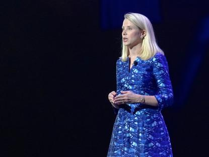 Yahoo CEO Marissa Mayer, speaking at the Consumer Electronics Show in Las Vegas in January 2014.