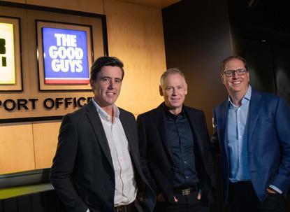 L-R: Nick Wells; Terry Smart and Richard Murray (JB Hi-Fi)