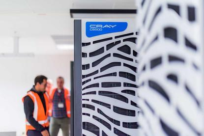 A cRay supercomputer being installed at NIWA's campus facility this year