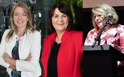 Sarah Bowden (Microsoft); Jolie Hodson (Spark) and Sallie Purser (IBM)