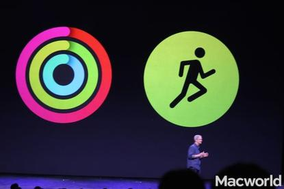 The Fitness app monitors all of your activity and movement through the day. Workout app lets you set specific goals for specific types of workouts, like cycling or running.