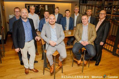 L-R: Simon Goode (Westcon-Comstor); Dean Graham (Insight Enterprises); David Small (Softsource); Frazer Scott (Plan B); James Henderson (Reseller News); Kelly Raines (Acquire); Sam Taylor (Symantec); Rob O'Neill (Reseller News); Matthew Roberts (SAS IT); Mark Ellis (Datacom); Klasie Holtzhausen (Symantec)