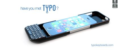 Typo's keyboard is designed to slip on over Apple's iPhone.