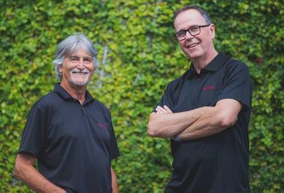 Rob Lee (Theta) and Ray Delany (Designertech)