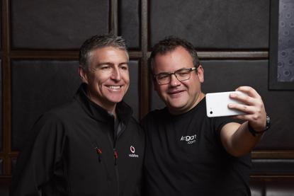 Jason Paris (Vodafone NZ) and Ruslan Kogan (Kogan Mobile)