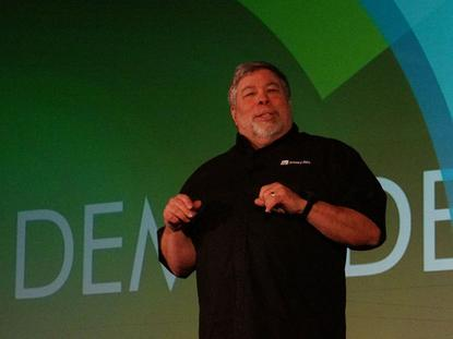 Apple co-founder Steve Wozniak spoke on Wednesday at Demo in San Jose.