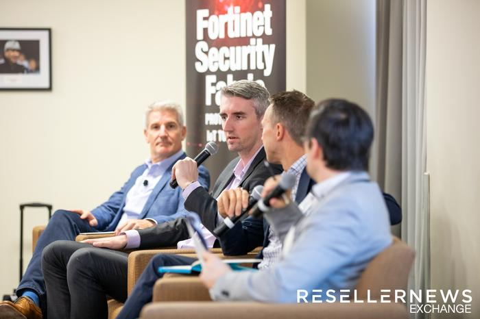 From left to right: Mark Iles (Tech Research Asia), Shane Hoffman (Bitdefender), Mark Shaw, Leon Spencer (Reseller News)