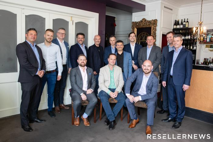 L-R: Dermot Conlon (SecOps); Igor Matich (Dynamo6); Nigel Everett (DEFEND); Frazer Scott (Plan B); Jon Fox (Sophos); Michael Foley (Umbrellar); Greg Sharp (Base 2); Noel Simpson (Lexel Systems); Igor Portugal (Catalyst IT); Dave Wilson (IT360); Martin Smithson (Kordia); James Henderson (Reseller News); Lewis Holden (Cogent) and Cameron Reid (Sophos)