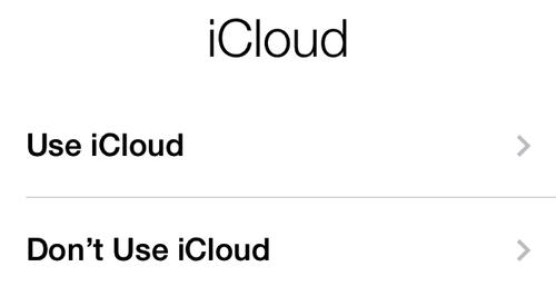 IN THE CLOUD Use iCloud to sync your device's data with your other devices and computers.