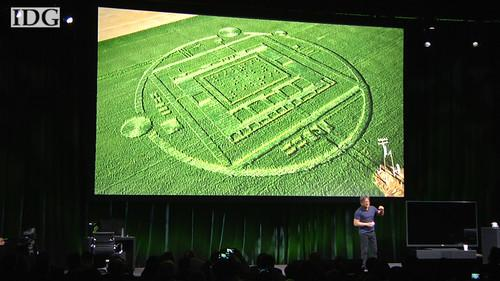 Nvidia CEO Jen Hsun Huang confesses a California crop circle was a marketing stunt