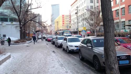 This photo from central Jilin City, China, shows some of the traffic congested that a computer simulation has helped ease.
