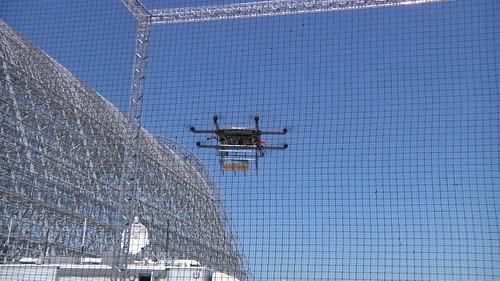 A delivery drone from Workhorse during a demonstration at Moffett Field in Mountain View, California, on July 28, 2015.