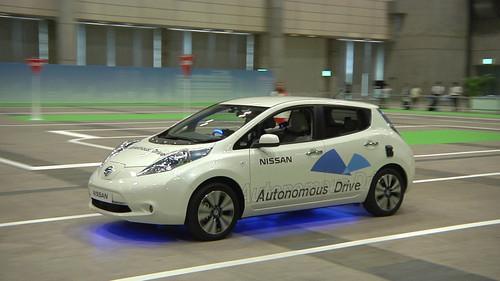 Nissan's prototype autonomous car, on show at Ceatec 2013 on October 3, 2013