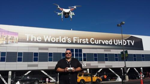 Chris McBeth, drone operator and Traveling Nerd, brought his DJI Phantom quadcopter to CES and captured some stunning aerial footage