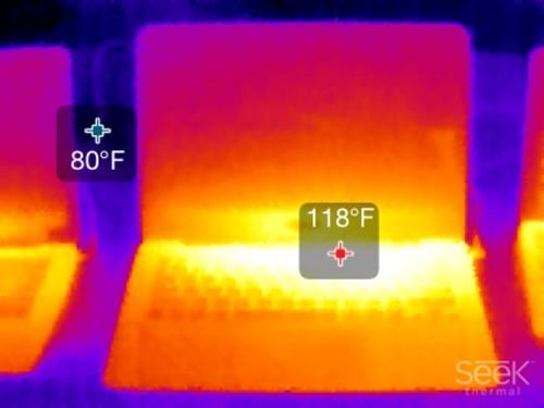The fanless ZenBook UX305F after a one hour encode gets almost too warm.
