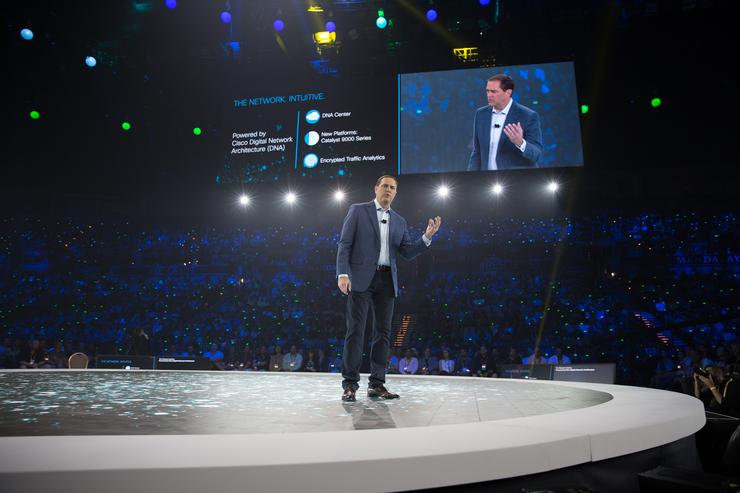 Cisco CEO Chuck Robbins delivered his keynote on the opening day of Cisco Live 2017 in Las Vegas