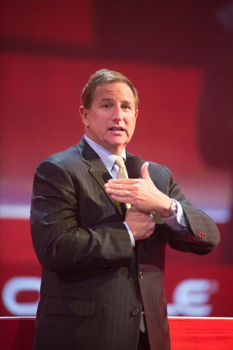 Mark Hurd speaks at Oracle OpenWorld 2013