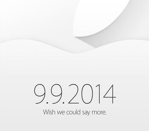 Apple invite for event on Sept. 9, 2014