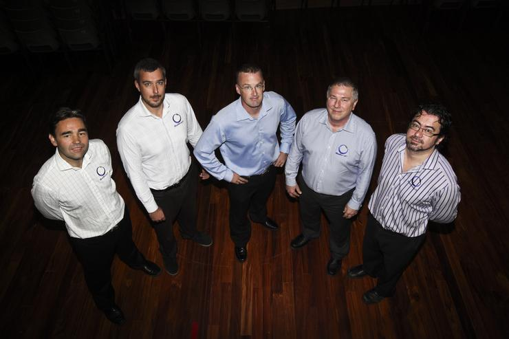 The BlueBerry It team: (L to R) Richard Butler, Paul Gabites, Allan Willoughby, Phil Suhm, Phill Urquhart.