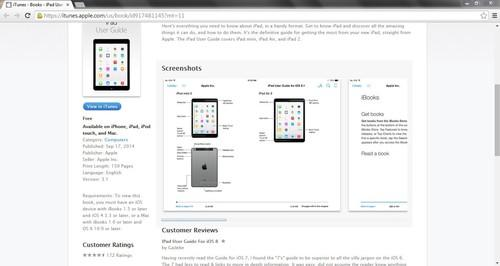 Screen capture of Apple's iPad Mini 3 and iPad Air 2 leak