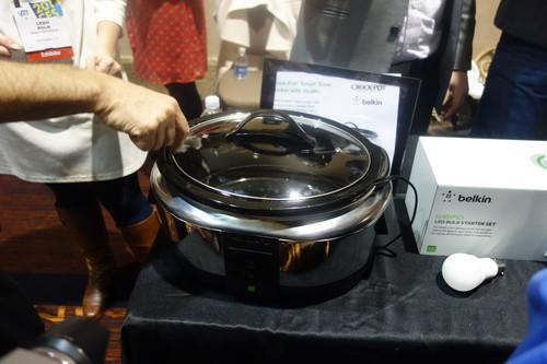 Belkin has partnered with Crock-Pot to come out with a slow cooker that can be remotely controlled from a smartphone