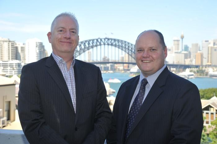 WhiteGold Solutions commercial director, Leigh Howard, and A10 Networks A/NZ managing director, Greg Barnes.