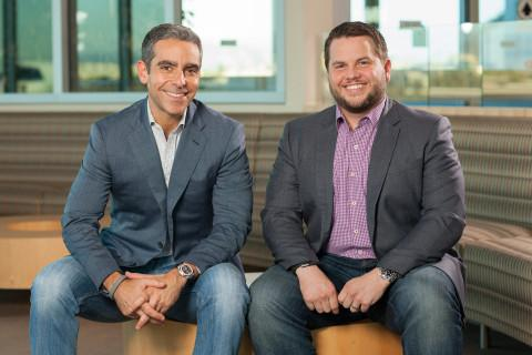 David Marcus, PayPal President on left, William Ready, Braintree CEO on right.