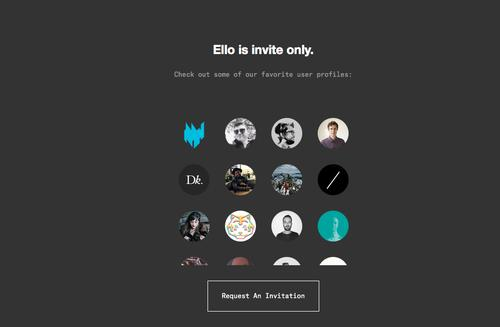 Ello's landing page, pictured Sept. 25, 2014.