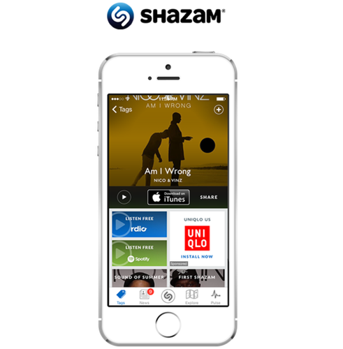 An example of ads placed inside Shazam's music app, through Facebook's audience network.