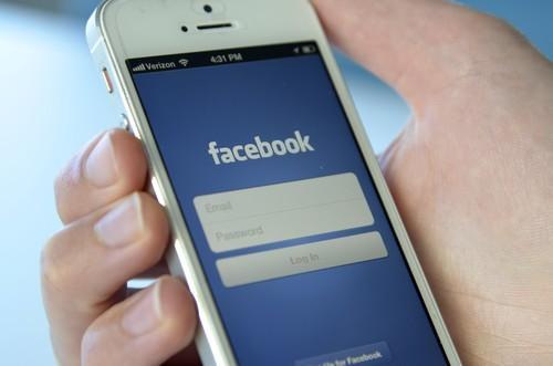 Facebook's mobile app.