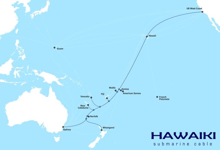 The proposed Hawaiki submarine cable
