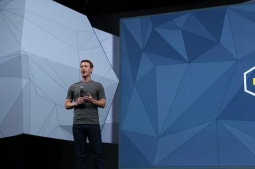 Mark Zuckerberg gives a Keynote speech at f8.