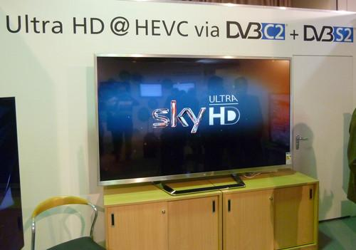 A 4K TV signal encoded using the HEVC codec is demonstrated at IFA 2013