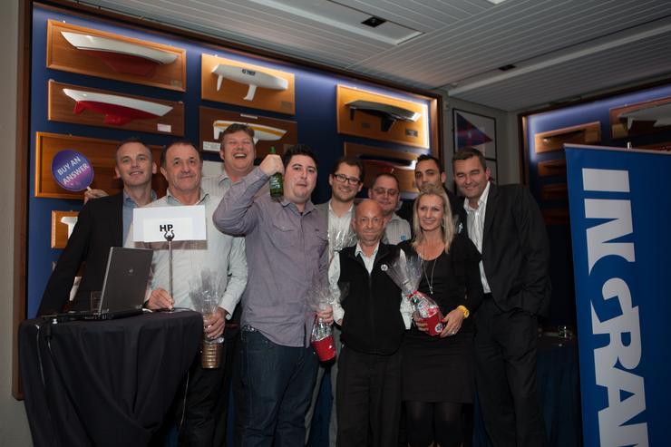 The winning HP team.