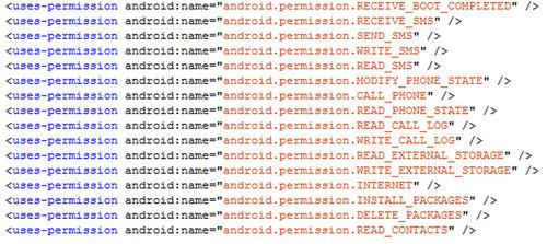 A new piece of malware for Android spreads itself via text messages and asks for a range of sensitive permissions, according to Eset.