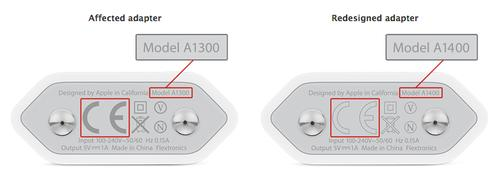 How to recognize the affected iPhone adapter