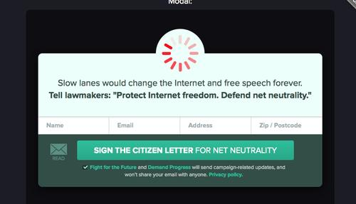 A group of Internet companies will display spinning wheel, slow-loading icons Wednesday in an effort to show what might happen if the FCC does not pass net neutrality rules.