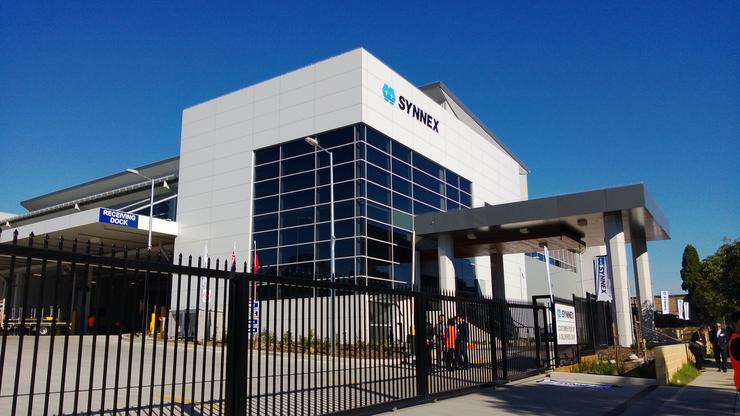 Synnex's new logistics centre, located in Lidcombe, Sydney.
