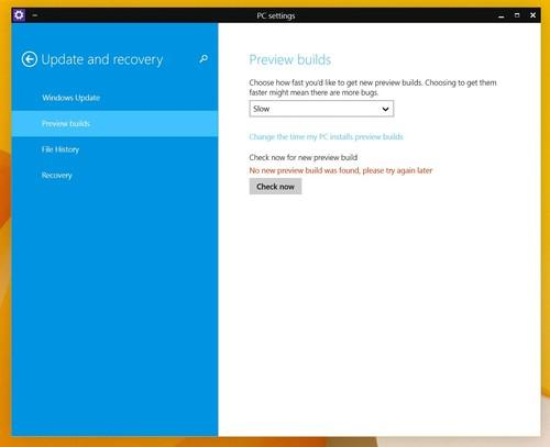 "Windows 10 TP testers can now choose to be on the ""slow"" or ""fast"" track for receiving new builds"