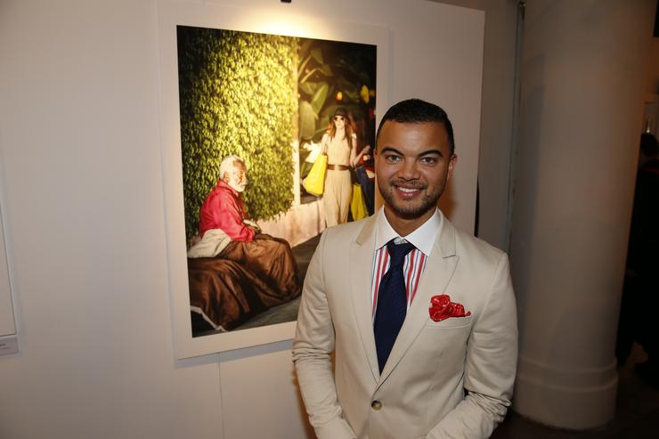 Musician Guy Sebastian with his favourite photo at the Shine event